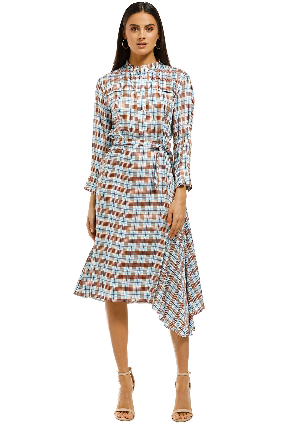 Scanlan Theodore - Check Shirt Dress - Multi - Front