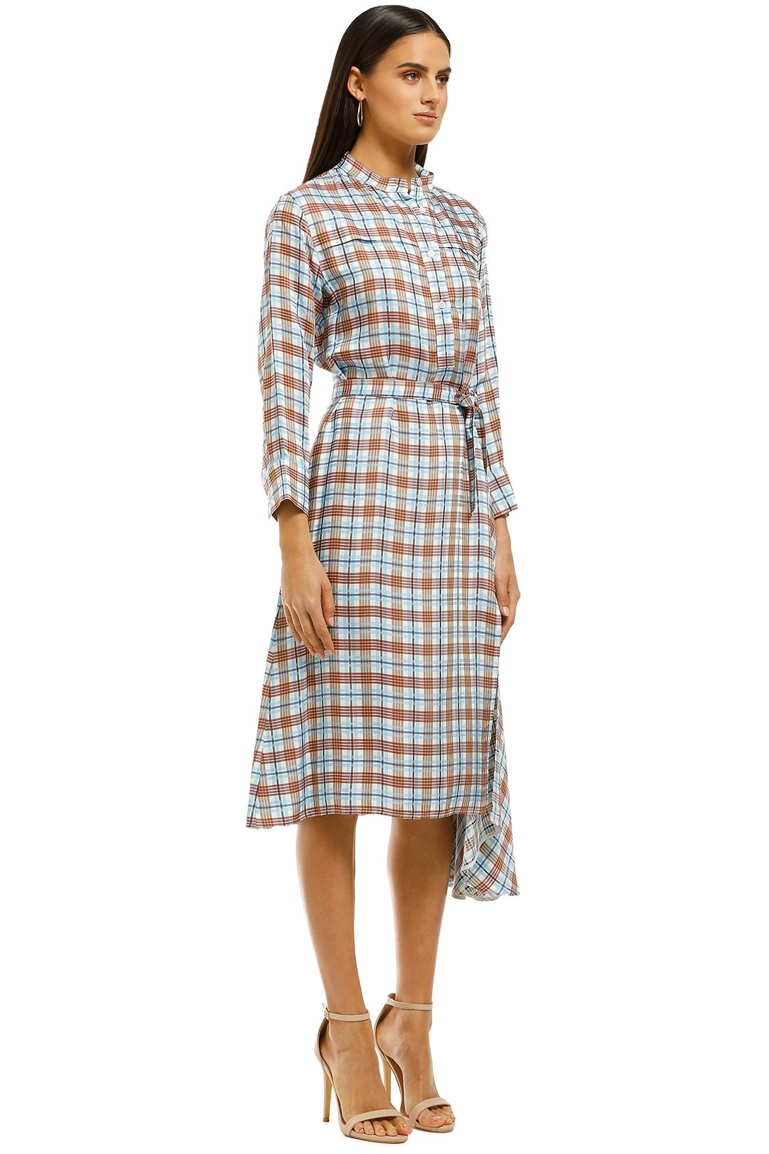 Scanlan Theodore - Check Shirt Dress - Multi - Side