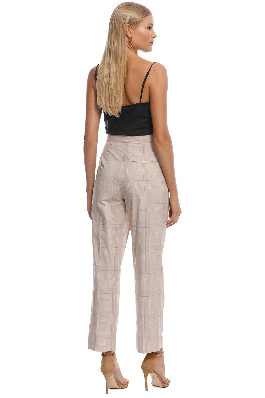 Scanlan Theodore - Check Slim Fit Trouser - Frappe - Back