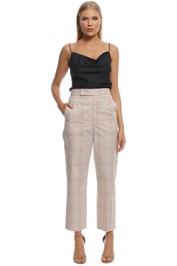 Scanlan Theodore - Check Slim Fit Trouser - Frappe - Front