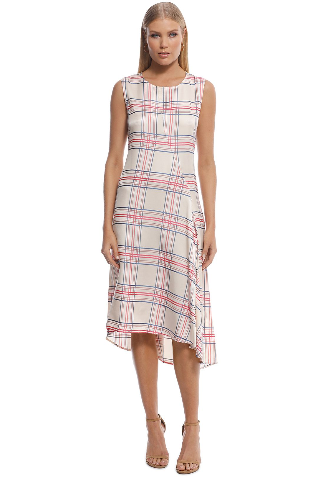 scanlan theodore - check slip dress - multi - front