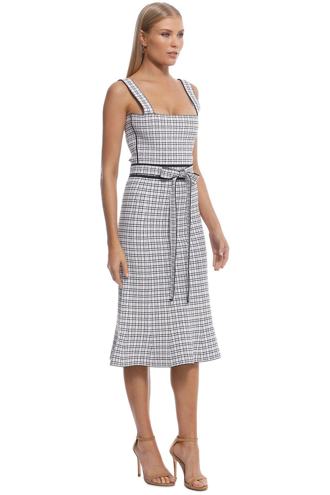 Scanlan Theodore - Crepe Knit Plaid Bralette Dress - Pale Pink - Side