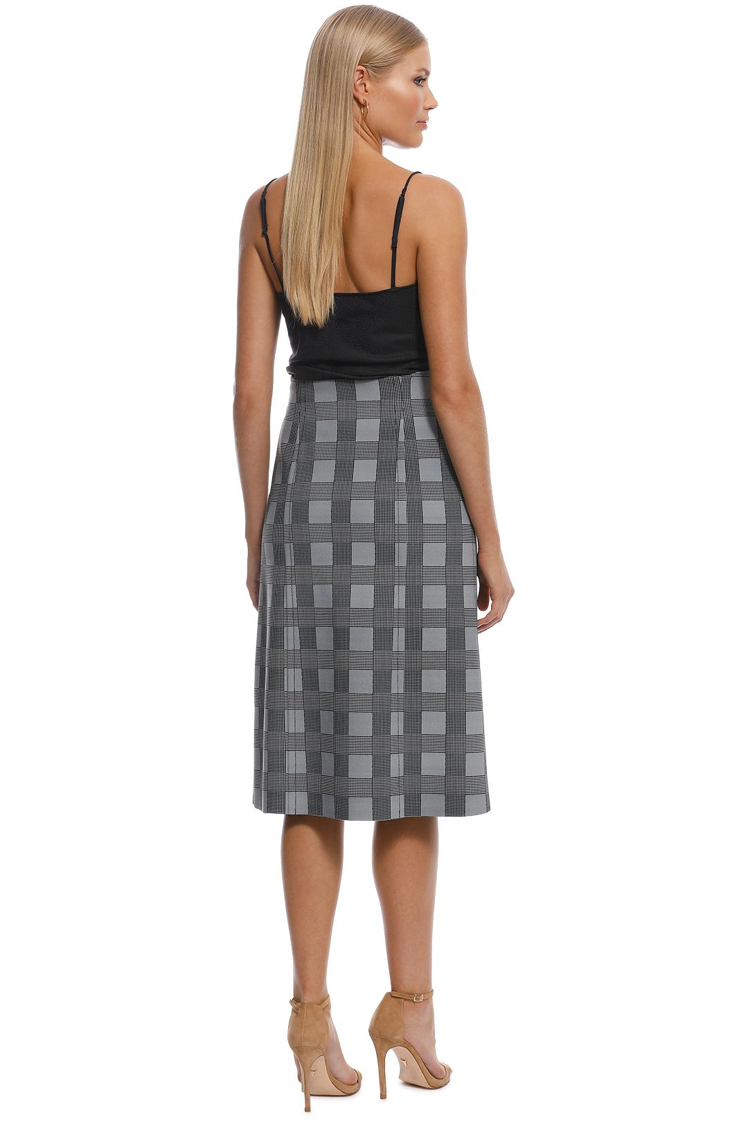 Scanlan Theodore - Scuba Prince of Wales Skirt - Check - Back