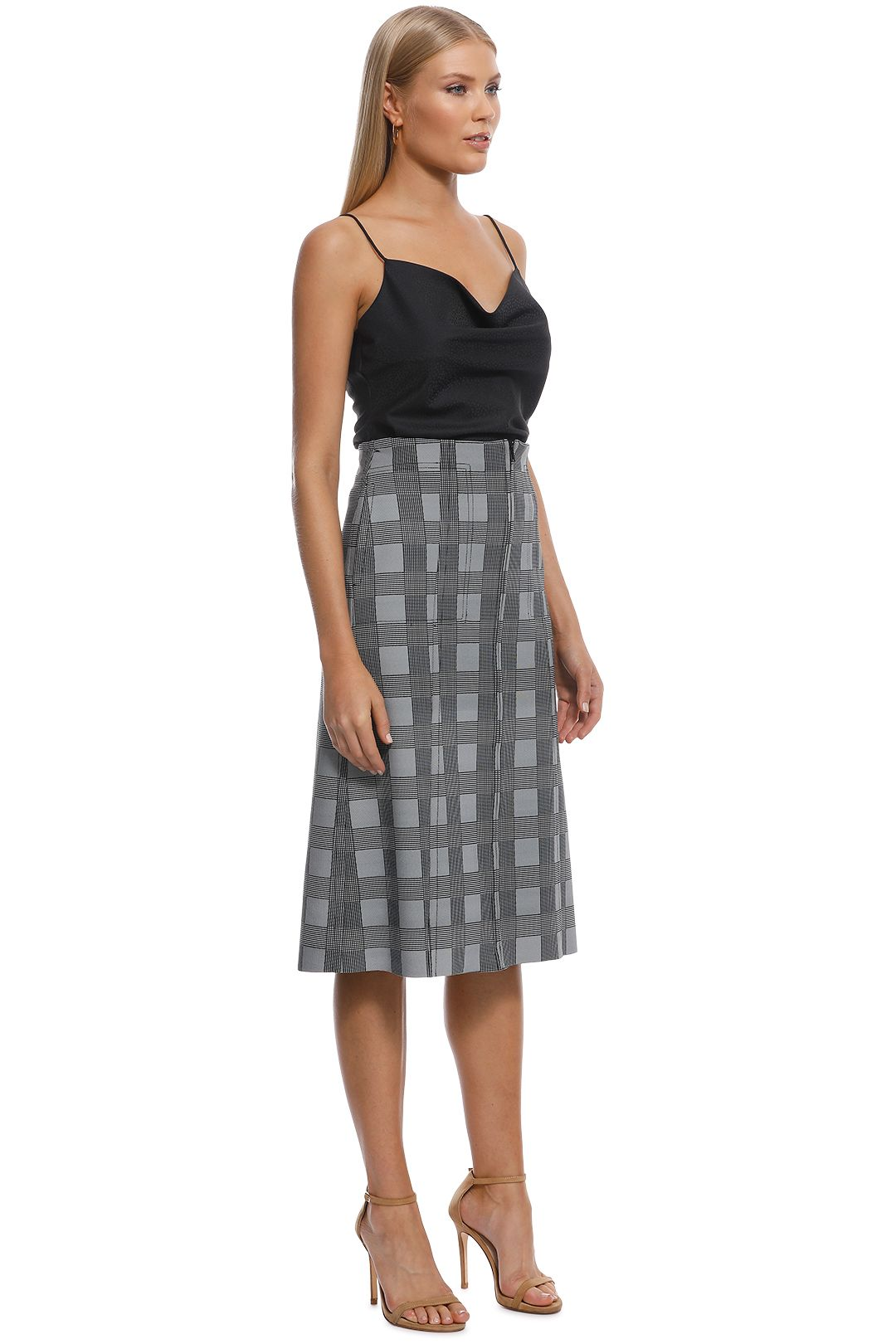 Scanlan Theodore - Scuba Prince of Wales Skirt - Check - Side