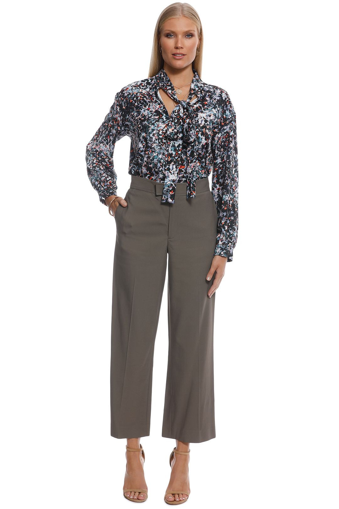 Scanlan Theodore - Stormy Print Blouse -Multi - Front