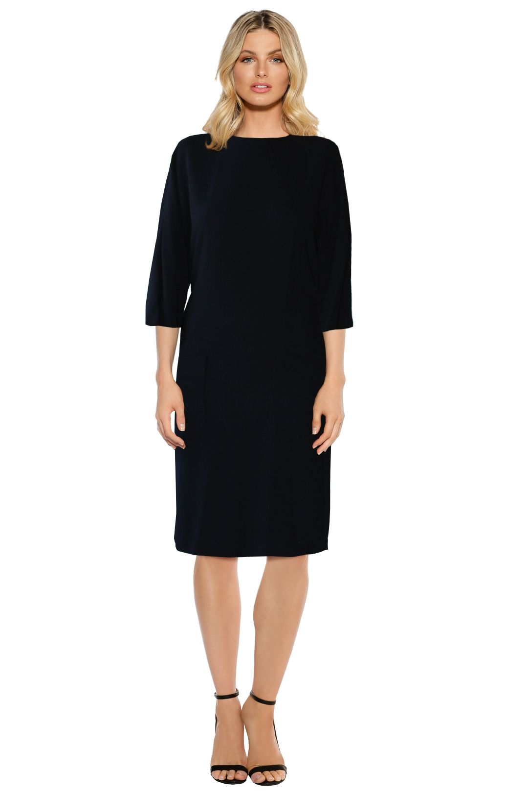 Scanlan Theodore - Viscose Patch Pocket Dress - Black - Front