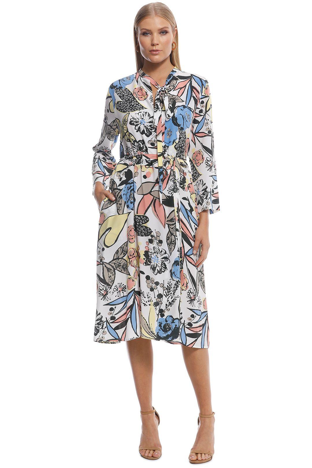 Scanlan Theordore - CDC leaf print dress - print - front