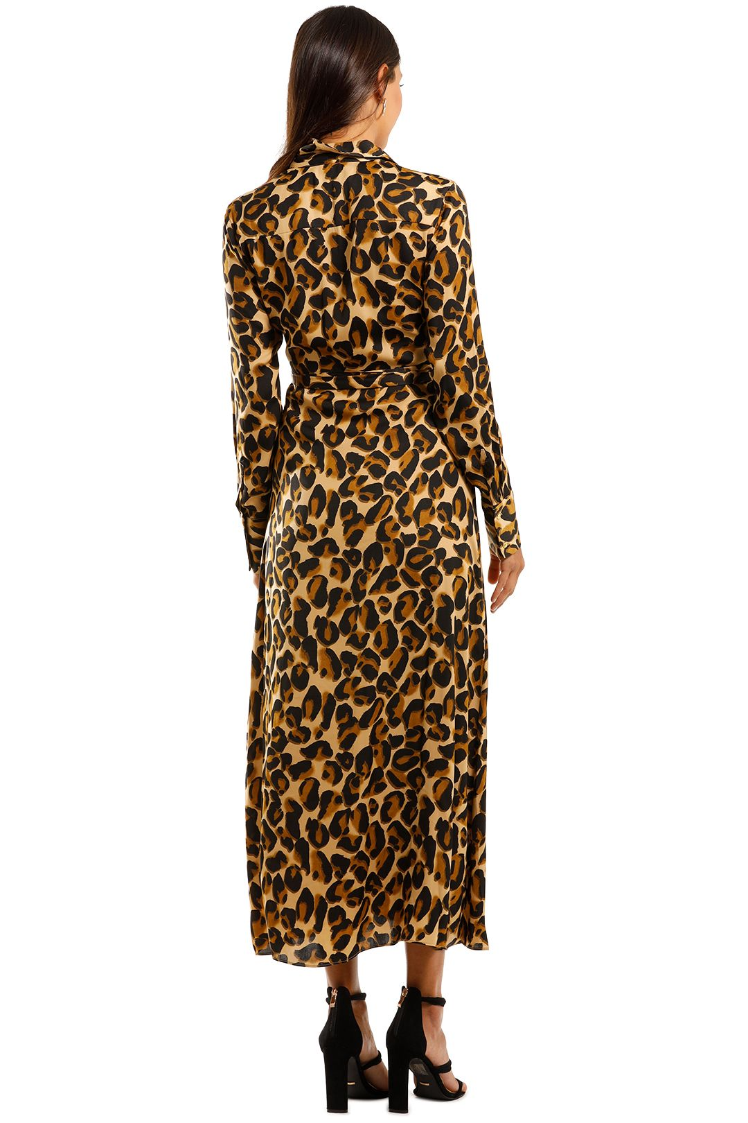 Scotch & Soda Belted Maxi Dress Animal Print