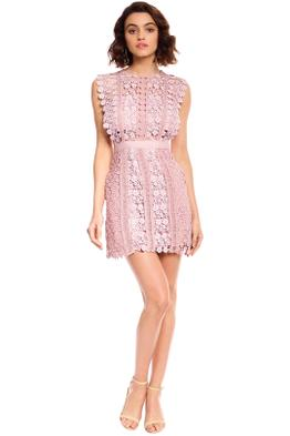 Self Portrait - Daisy Vine Mini Dress - Blush Pink - Front