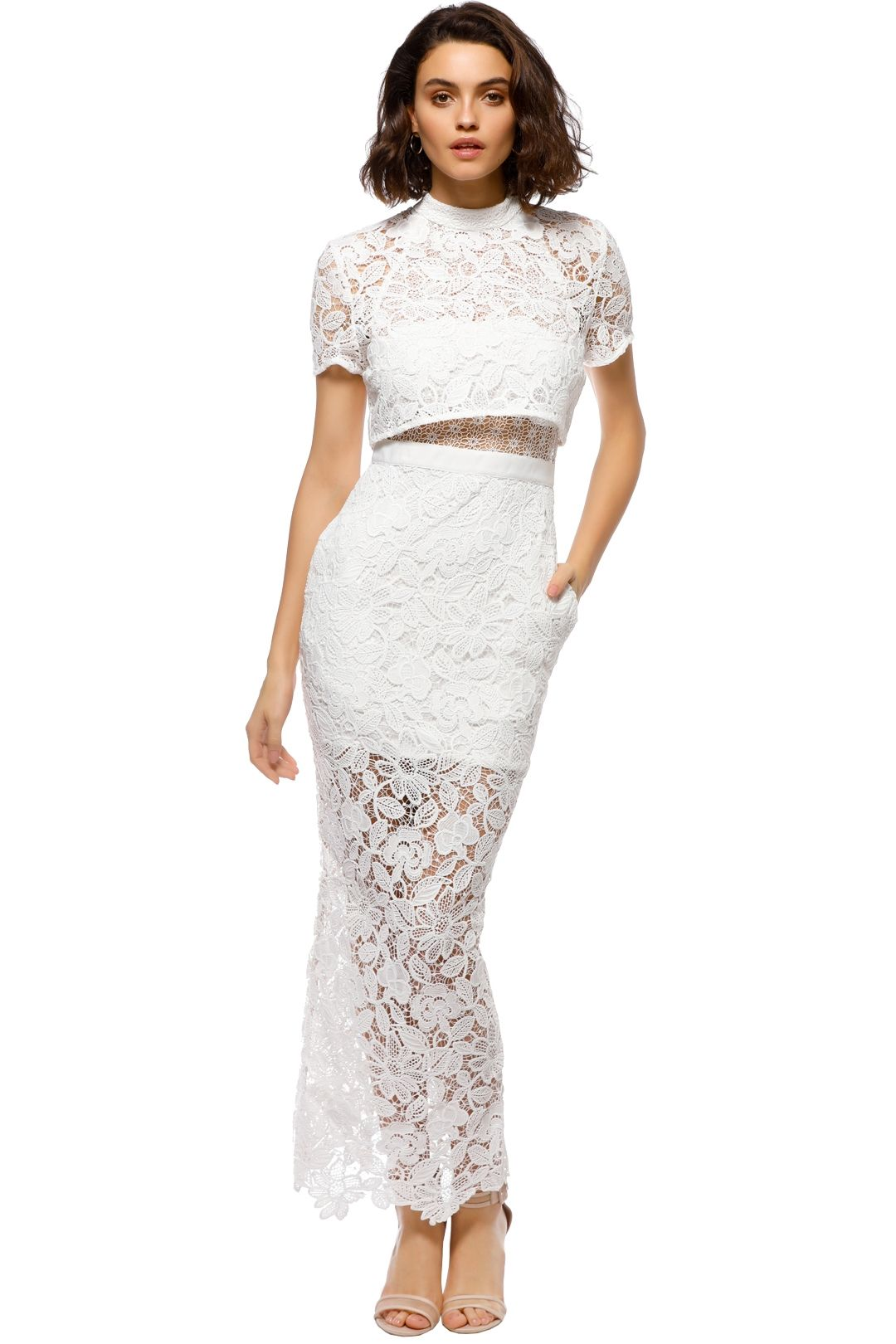 Self Portrait - Marcela Bridal Dress - White - Front