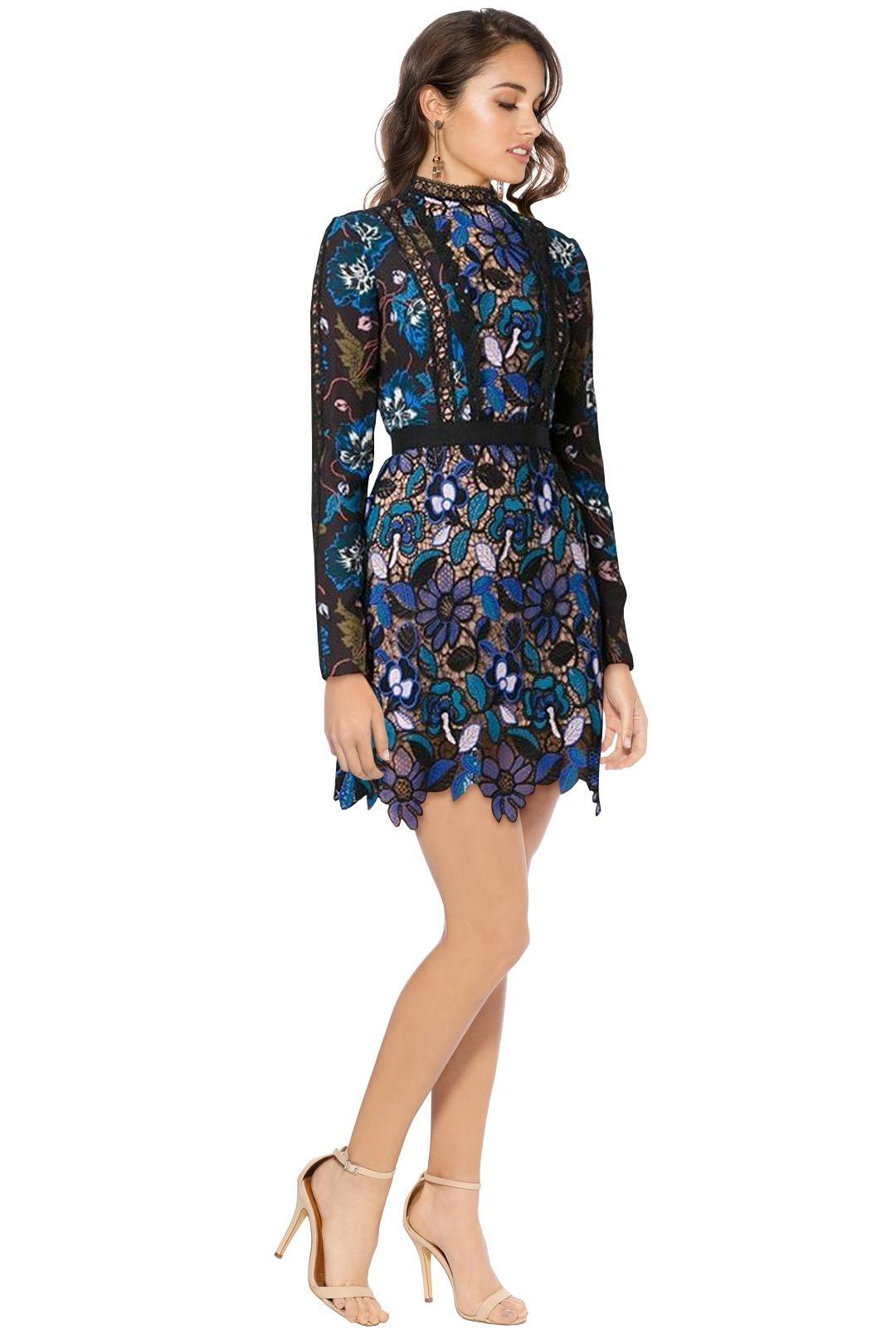 Self Portrait - Maxine Mini Dress - Blue - Side