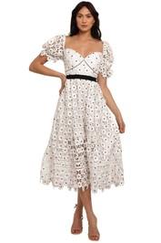 Self Portrait Daisy Lace Midi Dress