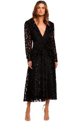 Self Portrait Metallic Leopard Midi Dress