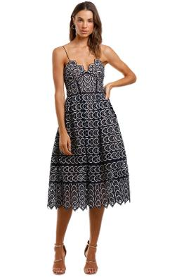 Self Portrait Sweethear Azaelea Dress Navy Sleeveless