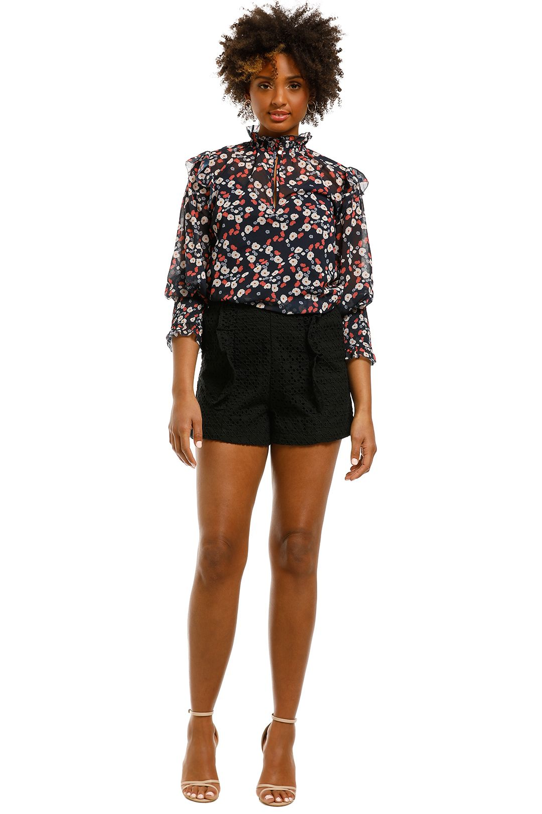 Sheike-Lulu-Lace-Short-Black-Front