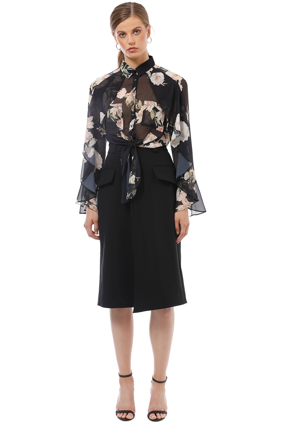 Sheike - Bethany Blouse - Floral - Front