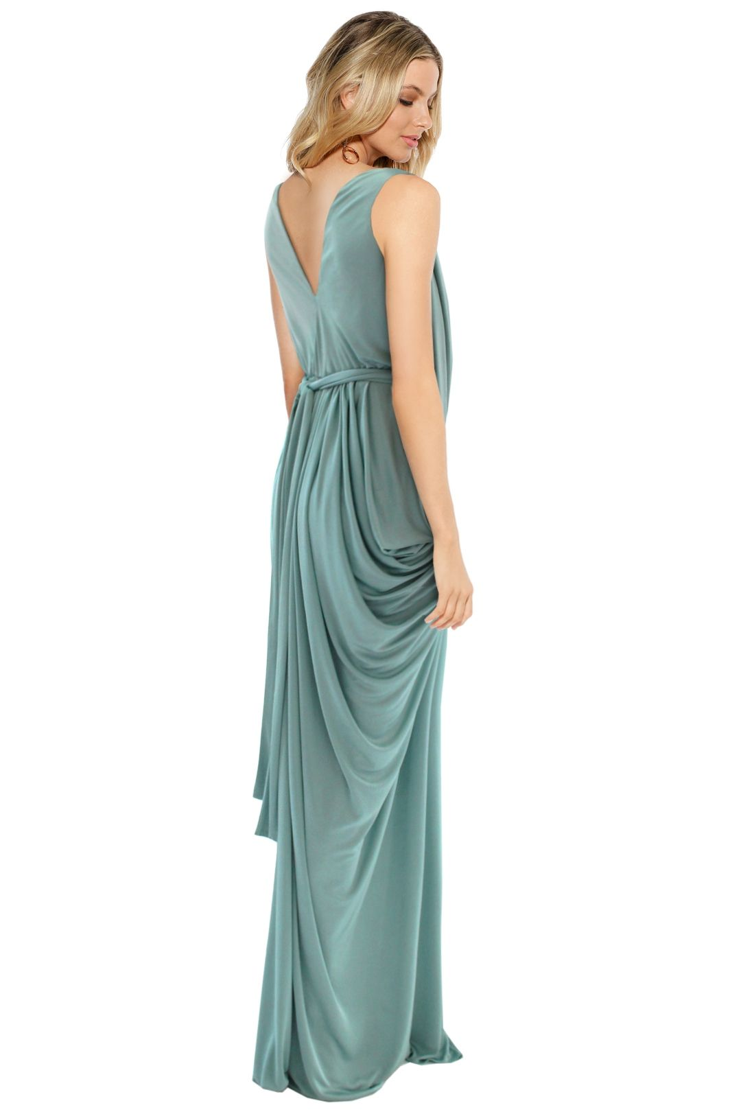 Sheike - Grecian Maxi Dress - Mint - Back