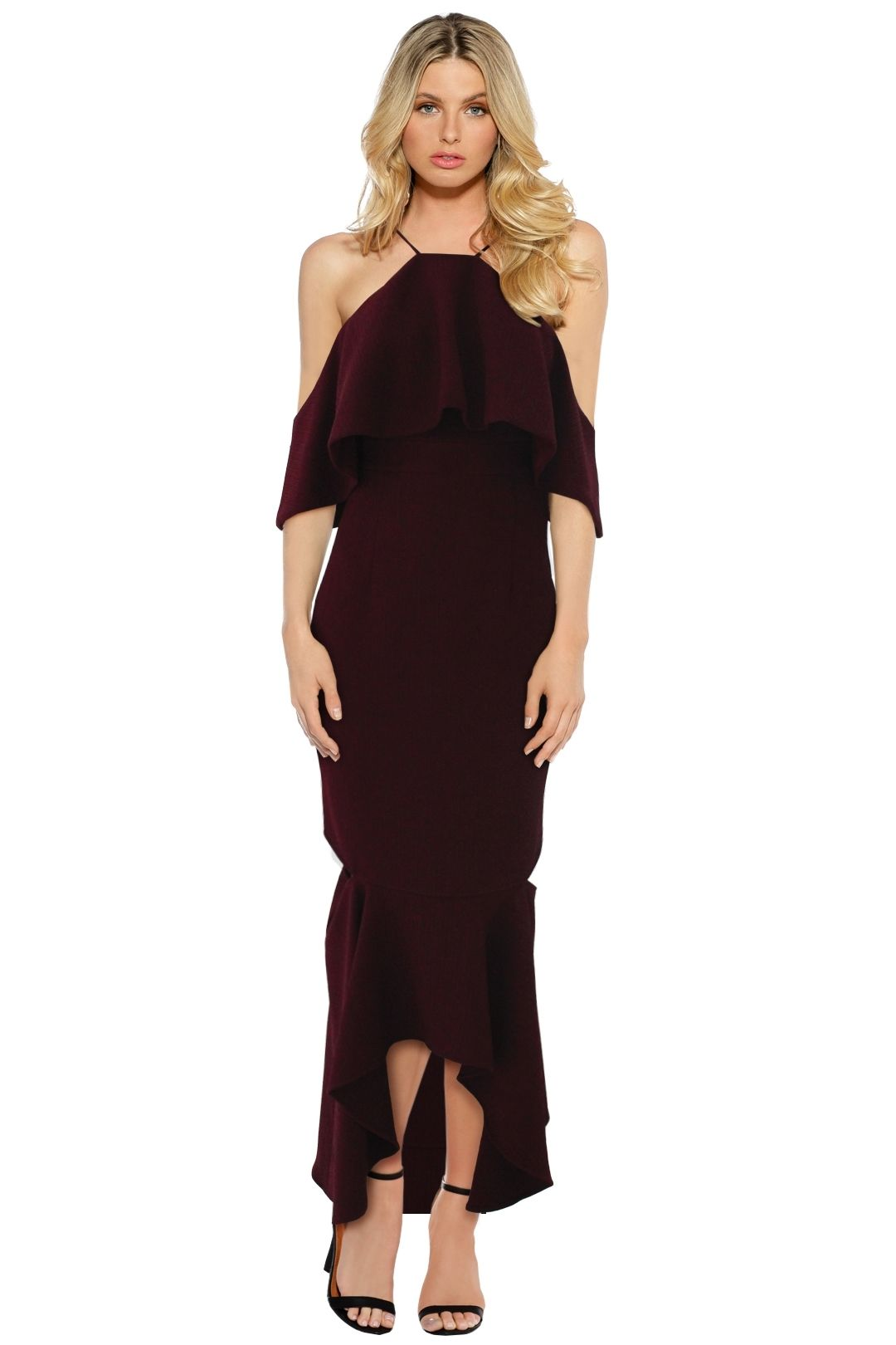 Sheike - High Society Dress - Wine Red - Front
