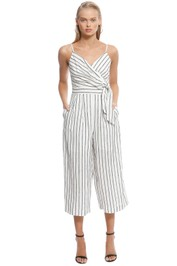 Sheike - Sail Away Jumpsuit - Stripe - Front