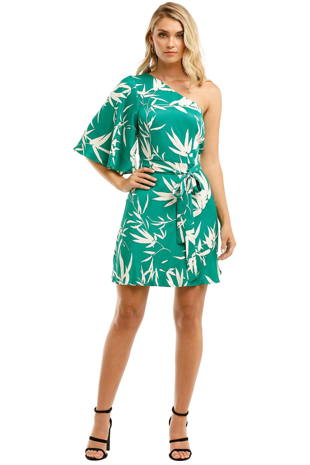 Shona-Joy-Ellis-One-Shoulder-Mini-Emerald-Ivory-Front