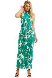 Shona-Joy-Ellis-Scarf-Neck-Midi-Dress-Emerald-Ivory-Front