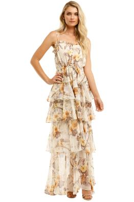 Shona-Joy-Marquis-Tiered-Maxi-Dress-Ivory-Multi-Front