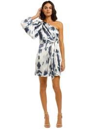 Shona-Joy-Palma-One-Shoulder-Tie-Front-Mini-Dress-Front