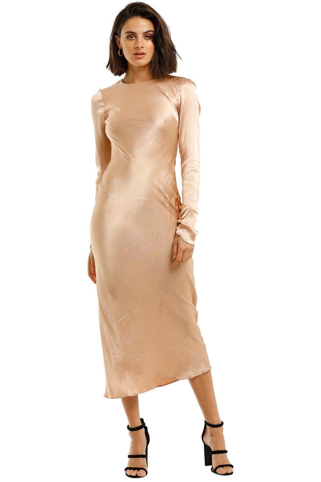 Shona-Joy-Wright-Long-Sleeve-Bias-Midi-Desert-Rose-Front