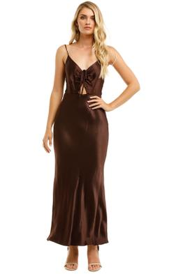 Shona-Joy-Wright-Ruched-Bias-Slip-Dress-Espresso-Front