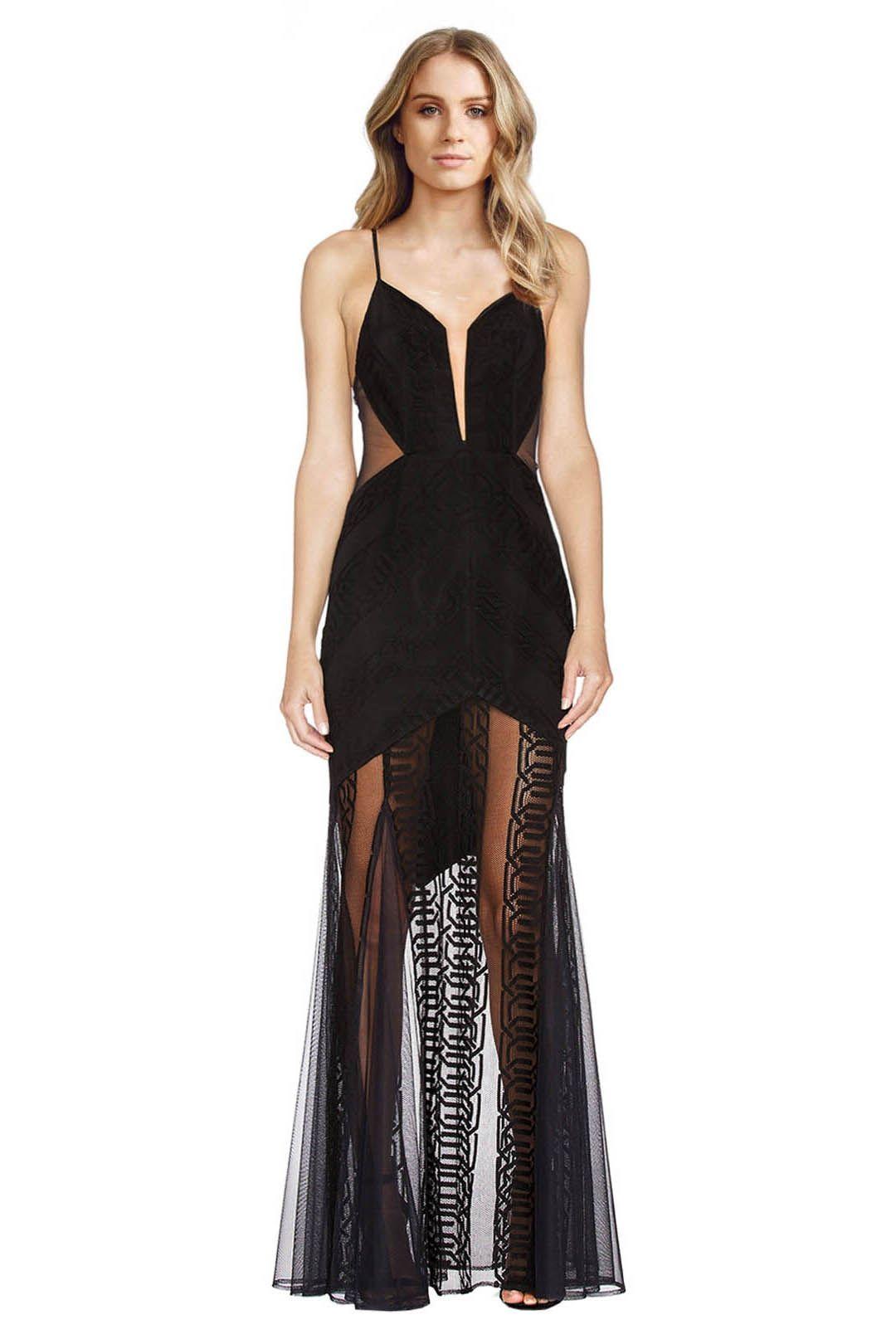 Shona Joy - Arabesque Maxi Dress - Black - Front