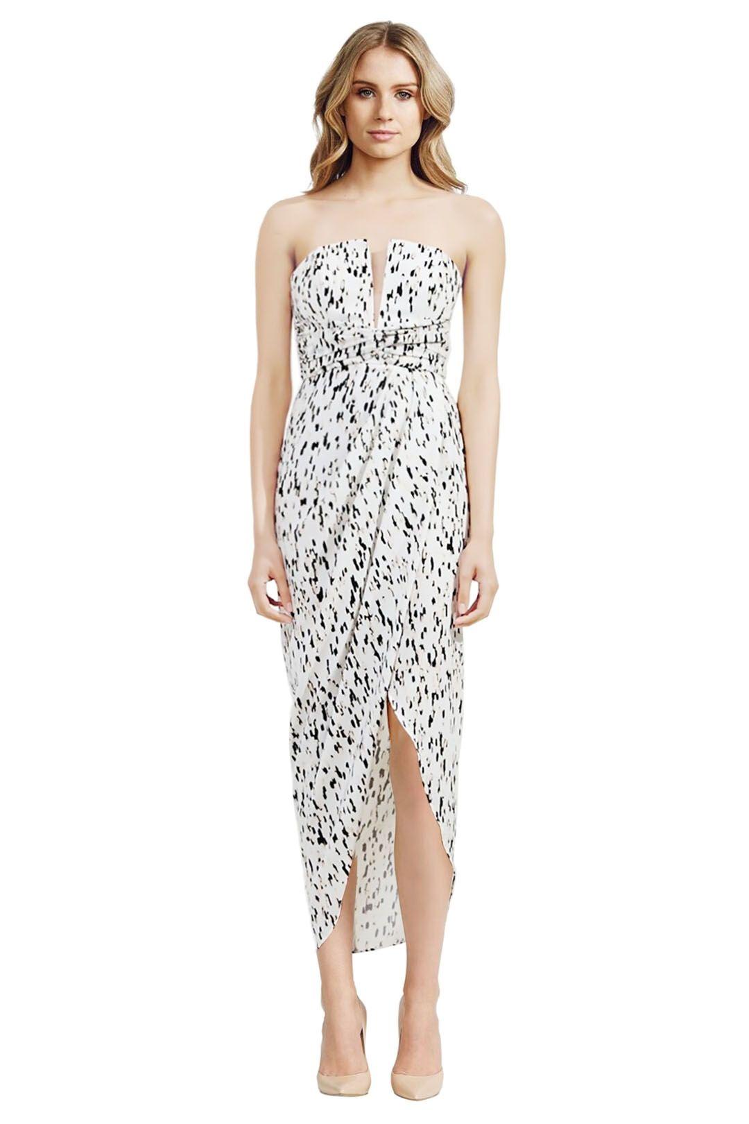 Shona Joy - Deia Draped Maxi Dress - Prints - Front