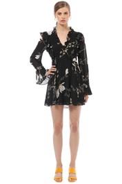 Shona Joy - Harper Ruffle Mini Dress - Floral - Front