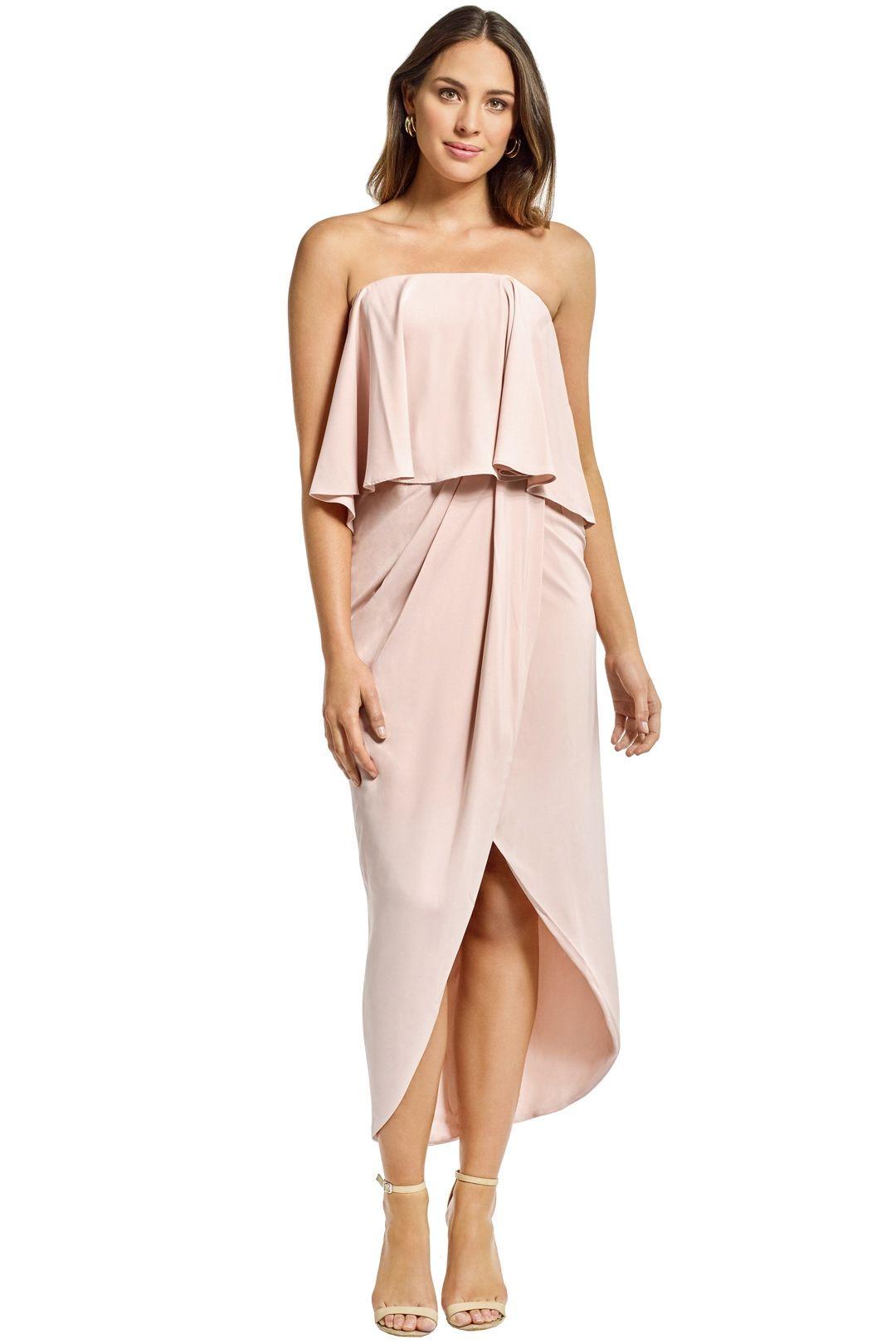 Shona Joy - Strapless Frill Drape Maxi Dress - Ballet - Front