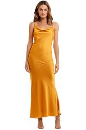 Shona Joy Bias Cowl Maxi Dress Saffron orange yellow