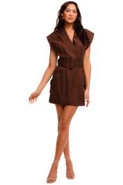 Shona Joy Blazer Mini Dress Chocolate