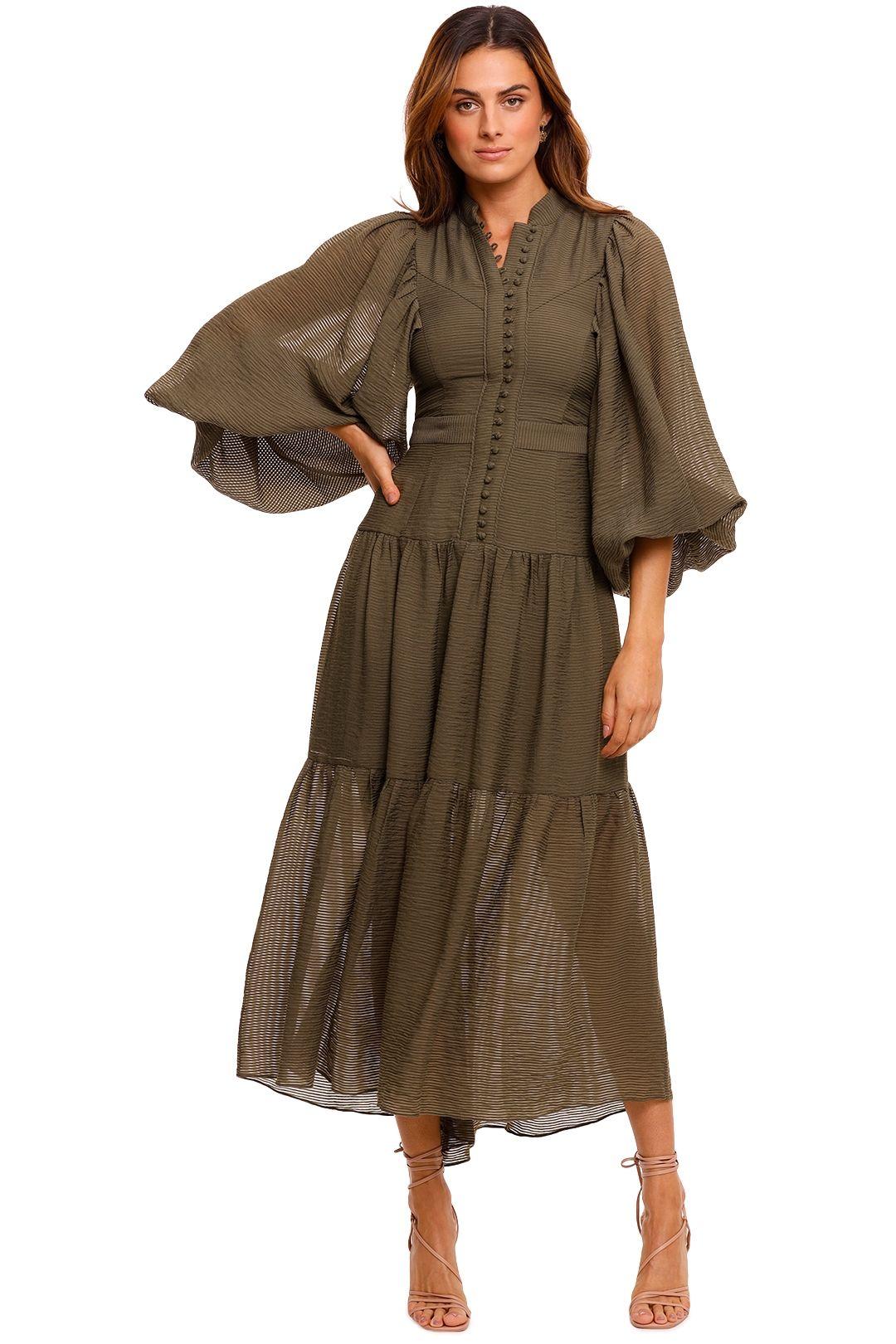 Shona Joy Charlotte High Neck Midi Dress