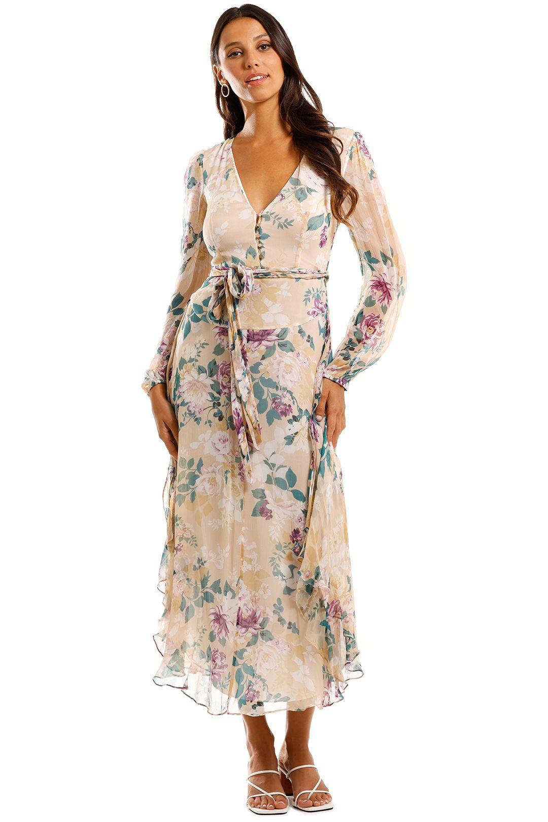 Shona Joy Donatella Long Sleeve Midi Dress