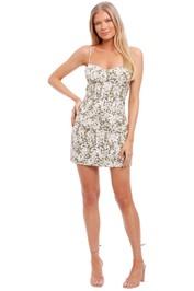 Shona Joy Fitted Corded Mini Dress
