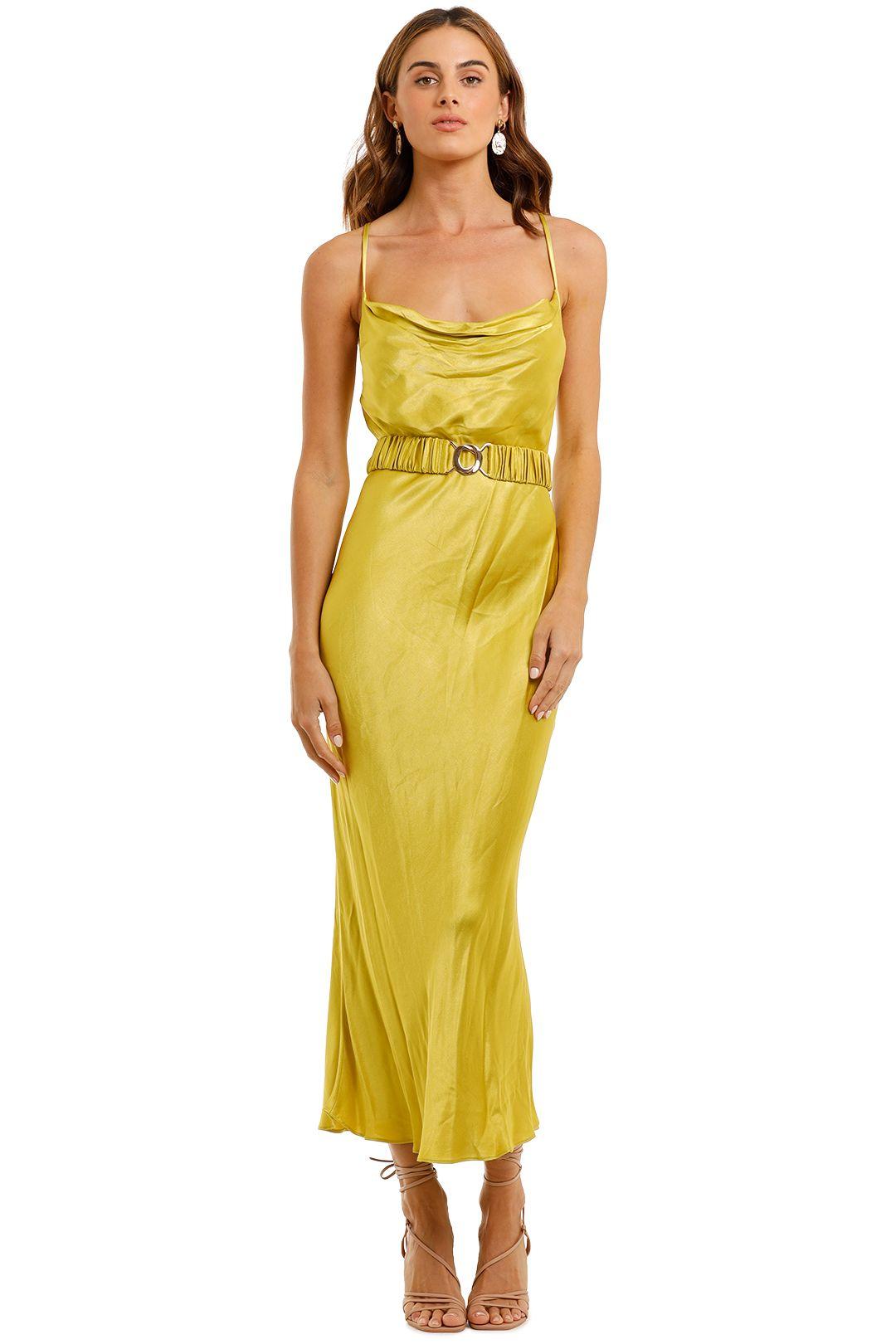 Shona Joy Gala Bias Midi Dress Lime