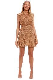 Shona Joy High Neck Corded Mini Dress