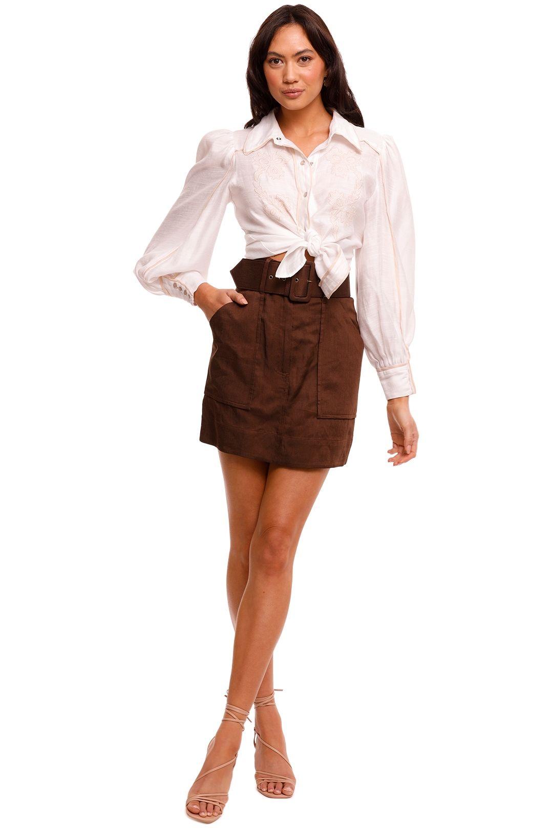 Shona Joy Mini Skirt Chocolate