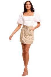 Shona Joy Mini Skirt Pistachio pockets