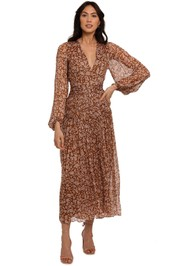 Shona Joy Odette Long Sleeve Midi Dress