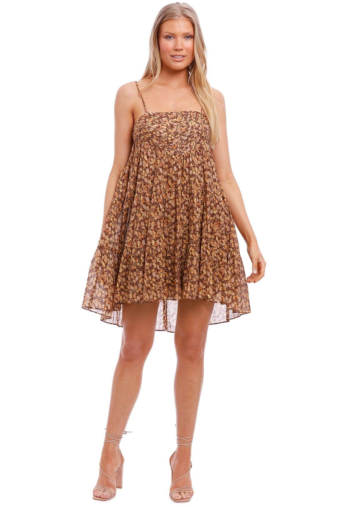 Shona Joy Pin Tuck Mini Dress floral