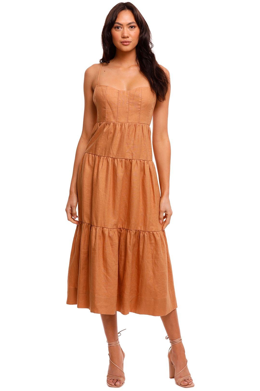 Shona Joy Rosa Tiered Midi Dress