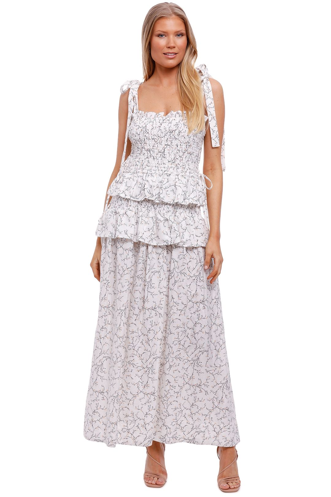 Shona Joy Shirred Maxi Dress