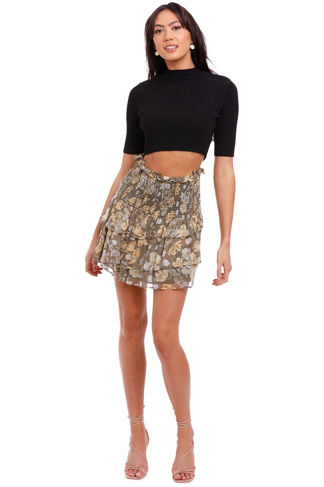 Shona Joy Shirred Ra Ra Skirt mini