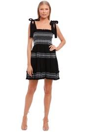 Shona Joy Shirred Tiered Mini Dress