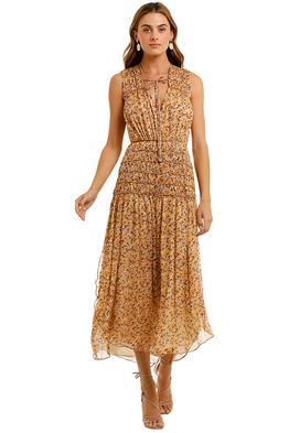 Shona Joy Sleeveless Corded Midi Dress