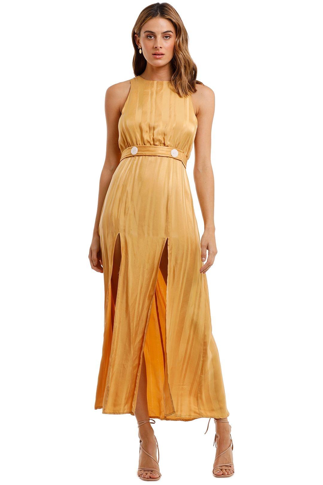 Shona Joy Split Skirt Midi Dress split